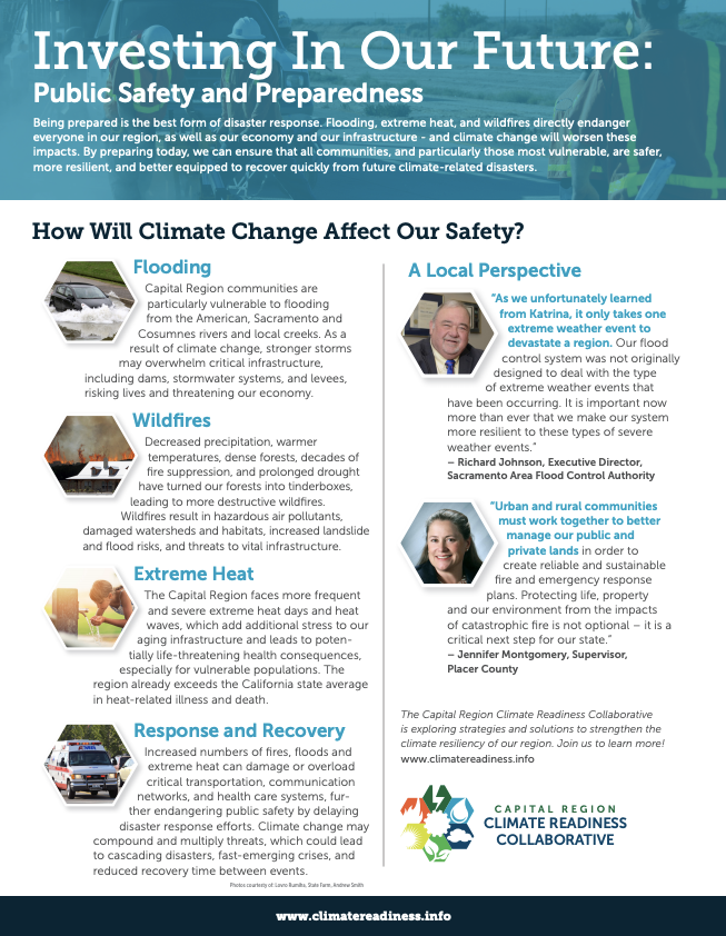 Investing in Our Future Factsheets - Capital Region Climate